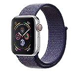 Corki für Apple Watch Armband 38mm 40mm, Weiches Nylon Ersatz Uhrenarmband für iWatch Apple Watch Series 4 (40mm), Series 3/ Series 2/ Series 1 (38mm), Mitternachtsblau