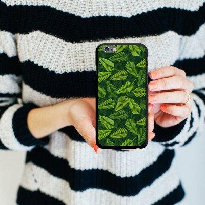 Apple iPhone 5s Housse Étui Protection Coque Palmier Plantes Plantes CasDur noir