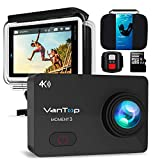 "VANTOP Moment 3 Action Cam 4K WiFi Sports Kamera Helmkamera 16MP Wasserdicht Unterwasserkamera Ultra HD 2.26"" LCD 170° Weitwinkelobjektiv 32 GB TF-Karte mit 2 Batterien und Kostenlose Zubehör Kits"