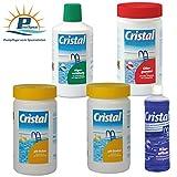 PoolSpezi Cristal Bayrol - Set per la Cura dell'Acqua della Piscina, 3 Pezzi