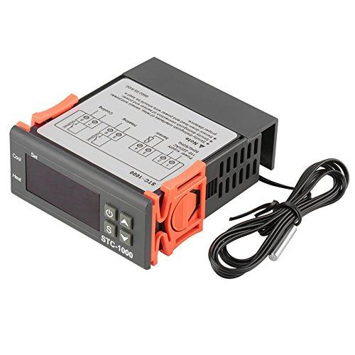Controlador de temperatura digital AC 110V-220V STC-1000 con termostato de sensor, modo de calor y enfriamiento para acuarios, terrarios, zoológicos, paludarios, incubadora de pollo