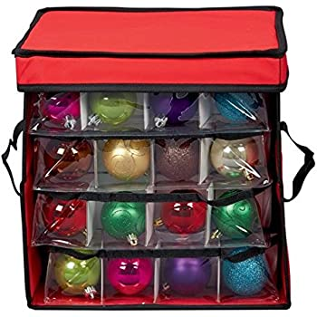 christmas ornament storage box with sections bauble and decoration storage