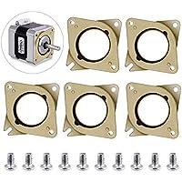 TopDirect 5 Piezas de Amortiguador de Vibraciones de Goma y Acero de Motor de Paso + 10 Piezas de Tornillos M3 5mm para CNC, NEMA 17 Impresora 3D