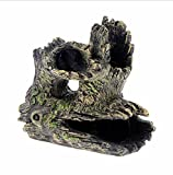 WYXIN Gamberetti di cristallo acquario evitare casa radici di alberi casa di tronchi albero cavo resina ornamenti artigianali