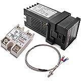 XCSOURCE AC 220V PID REX-C100 Moniteur Régulateur Numérique de Température Max 40A SSR K Thermocouple 400C BI603