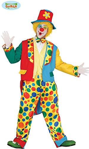 Guirca - Costume da Pagliaccio Clown per Adulti, Taglia Unica, 84368