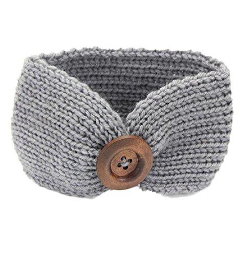 Tonsee Baby stricken Baby Kinder Mädchen Taste Haarband Phtography Requisiten (grau) (Band Stricken)