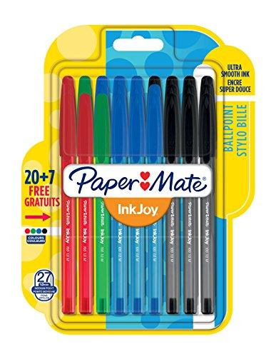 paper-mate-1966154-inkjoy-100-cap-penna-a-sfera-con-cappuccio-e-punta-media-da-10-mm-confezione-da-2