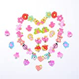 TOYZHIJIA 20 Pairs/Set Cute Cartoon Earrings Clip-On No Pierced Design fit for Kids Child Girls Style Random