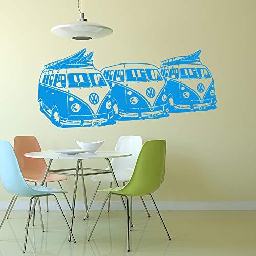 YuanMinglu Adesivi murali Art Design Adesivi murali per Auto Decorazione per la casa murale Blu L 130 cm x 58 cm