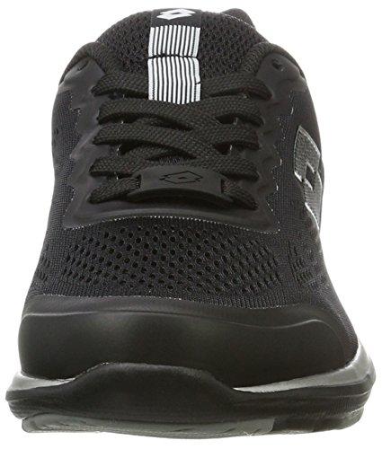 Lotto Ariane Vi Amf W, Zapatillas Bajas Atléticas Para Mujer Negro (blk / Tit Gry)