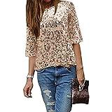 Damen Bluse IHRKleid® Frauen Strapless Pailletten beiläufige lose T-Shirt Tops Langarm weg von der Schulter Hemd Bluse (M, Gold)