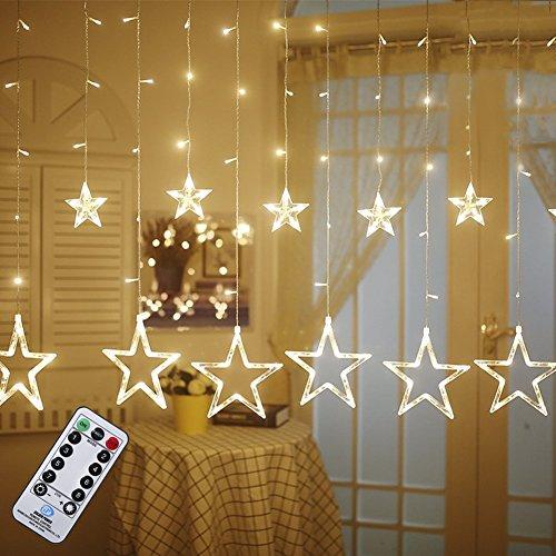 LED-Lichtervorhang warmweiß