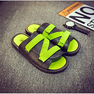 Slippers & amp da uomo;Primavera Comfort Tulle Casual Sandali Nero Bianco sandali US11.5 / EU45 / UK10.5 / CN47