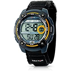 Sector Men's Watch R3251172175 In Collection Expander Street With LCD Dial & Black Colour Fabric And Canvas Strap
