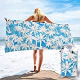 Socksforu Fast Quick Dry Towel,Sports & Beach Towel.Maui Palm 2 Turqiouse Suitable for Camping, Gym, Yoga,Swimming,Travel,Hiking,Backpacking.