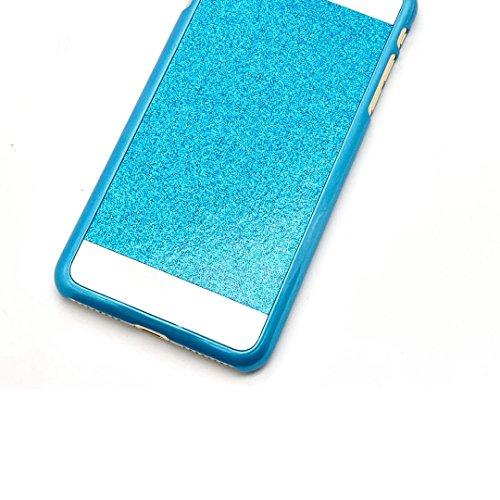 iPhone 7 Handyhülle, iPhone 7 Schutzhülle, Vandot Diamant Bling Glitzer Hülle iPhone 7 PC Hart Case Cover mit Kratzfeste Stoßdämpfende Luxus Ultra Dünn Handytasche Handy Schutz Schale Tasche Bumper fü Blau