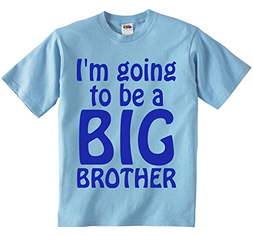 Image of I'm Going To Be A Big Brother T-Shirt. (5-6 years, Light Blue T-Shirt - Royal Blue Vinyl)