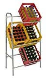 Kastenständer XXL für 6 Kisten - Farbe: silber - Getränkekistenregal, Kistenständer