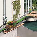 Regenwasserfilter Laubabscheider Rainus grau für Blechfallrohre mit 80 mm und 100 mm Durchmesser. Verhindert das Zusetzen und Verstopfen von Fallrohren durch Grobschmutz wie Laub und Moos. Test