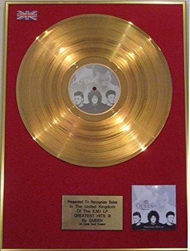 UK Music Awards Reina–24Quilates LP Oro Disco–Queens Greatest Hits vol111