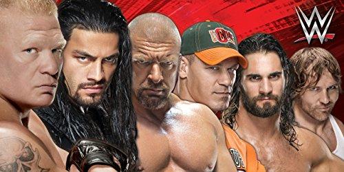 Baumwoll-Strandbadetuch mit der WWE 2K17-Aufstellung, 70 x 140cm Dean Ambrose, Seth Rollins, John Cena. (Strandtuch Punk)