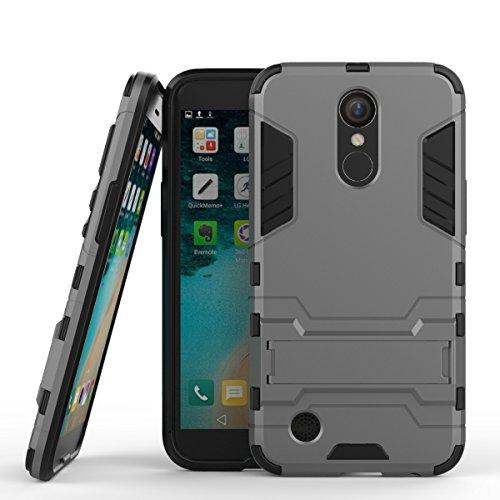 P10 Hülle,EVERGREENBUYING Abnehmbare Hybrid Schein VTR-AL00 Tasche Ultra-dünne Schutzhülle Case Cover mit Ständer Etui für Huawei Ascend P10 / P10 Li Blau Grau