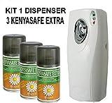 immagine prodotto KENYASAFE EXTRA 3 bombole insetticida da 250 ml con erogatore automatico