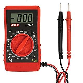 AcGoSp Uni-Ut20B T Tasche, Handlich, Lcd-Display, Digital Multimeter, Rot