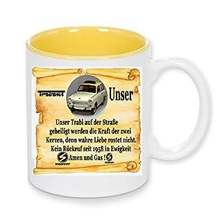 Handmade by GmH Kaffeebecher Trabant 601 Kombi Kult-Trabbi DDR-Ostalgie rundum Bedruckt