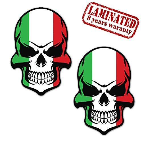 Skino 2x Pegatinas Vinilo Adhesivos Skull Calavera Bandera...