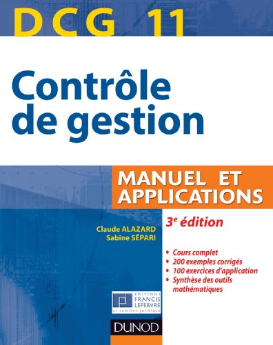 DCG 11 - Contrle de gestion - 3e dition - Manuel et applications