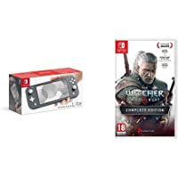Nintendo Switch Lite - Grey + The Witcher 3 Wild Hunt Complete Edition