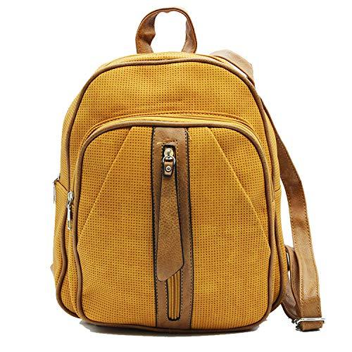 MISEMIYA - Damen Rücksack Rücktasche Rucksackhandtaschen Damenhandtaschen Handtaschen & Schultertaschen SR-8554 - Gelb
