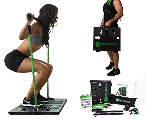 bodyboss 2.0: El mundo de la 1st portátil gimnasio en casa–paquete completo, Verde