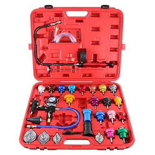 FreeTec 27-TLG. Aluminium Kühlerdruck Prüfer Druckprüfung Kühlsystem Tester Werkzeug