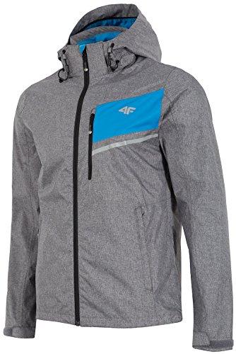uebergangsjacke Uomo   4F   signore giacca   traspirante giacca con cappuccio   Sport giacca con cappuccio   primavera estate autunno   Aquatech 5000  kum004ss18() Grau