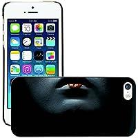 Premium Slim Polycarbonate Aluminium Cassa del telefono Custodia Case Bandiera Cover Armor // M00047999 lips geisha aero black // Apple iPhone 5 5S - Aero Lip