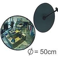 Profesional Observación Espejo überwachungsspiegel Seguridad Espejo Espejo de control, Convexo Espejo 50cm, por fin sin tener que Tornillos al Ajustar del espejo