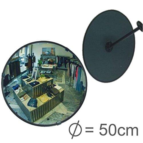 professioneller Beobachtungsspiegel Überwachungsspiegel Sicherheitsspiegel Kontrollspiegel, Konvexspiegel 50 cm, Endlich kein lästiges Schrauben mehr beim Einstellen des Spiegels