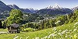 Artland Qualitätsbilder I Wandtattoo Wandsticker Wandaufkleber 60 x 30 cm Landschaften Berge Foto Grün B6VA Bayerischen Alpen Deutschland