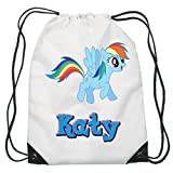 My Little Pony Kordelzug schwimmen, Schule, PE Tasche für Mädchen personalisierbar