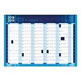Large A1 2018-19 Academic/Student Mid Year Wall Planner Calendar (Blue)