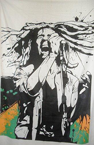 Traditionelle Jaipur Twin Bob Marley Tapisserie Hippie Wandbehang, indische Baumwolle Tagesdecke, Bohemian Picknick Werfen, Gypsy Beach Decke, Boho Wohnheim Decor
