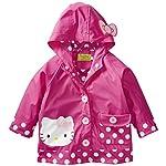 Western Chief Girls Hello Kitty Lined Rain Jacket, Hello Kitty Cutie Dot, 2T