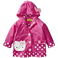 Western Chief Girls Hello Kitty Lined Rain Jacket, Hello Kitty Cutie Dot, 3T