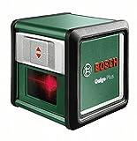 Bosch DIY Kreuzlinien-Laser Quigo 3. Generation Plus, 2 x AAA Batterien, Schnell-Montage Platte, Stativ, Karton (Reichweite 7 m, Neigungsfunktion, Selbstnivellierend)