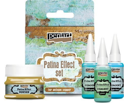 Pentart Patina Rost Effekt Set Puder und Oxidationsmittel