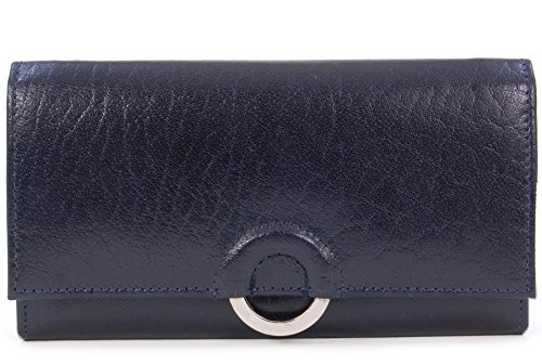 Borsellino in pelle Catwalk Collection -Odette - scatola regalo - Blu Navy