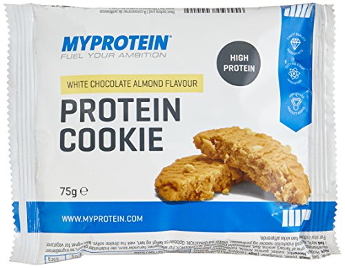 Myprotein Max Protein Cookie Box White Chocolate Almond 12 x 75 g, 1er Pack (1 x 900 g) (Pro White Box)